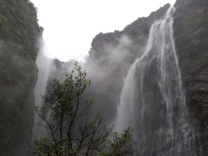 Jog Falls Karnataka. From Down Below
