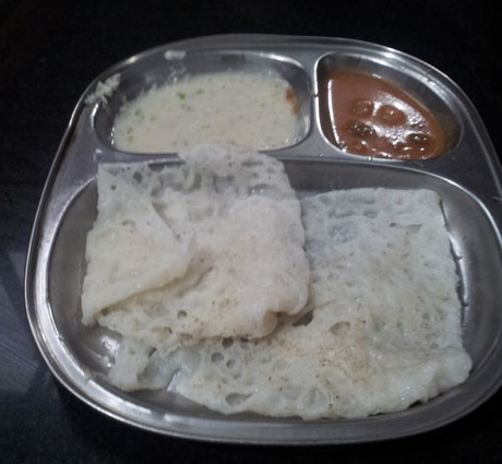 Nir Dosas at Agumbe. Another Delicacy!