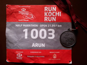 Running Bib and Finishers Medal