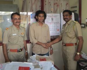 With Mr. Ananda Krishnan (Motor Vehicles Inspector) and Mr. Shaji Madhavan (Joint RTO)