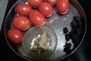 Tomatos, Tamarind, Ginger And Garlic